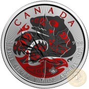 Canada BABY BEAR WITH SALMON Canadian Maple Leaf series THEMATIC DESIGN $5 Silver Coin 2017 High quality 1 oz